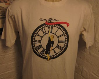 Size L (45) ** 1990s Bette Midler Concert Shirt (Double Sided)