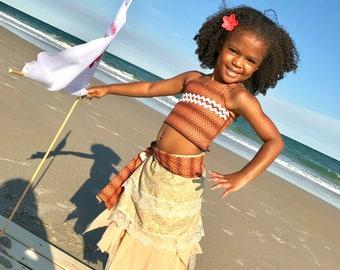 Moana Inspired Costume, Moana Princess Costume, Moana Girl Costume, Moana Inspired, Polynesian Princess Dress, Moana, Island Party Dress