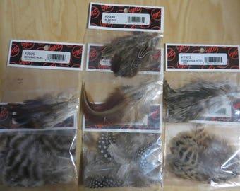natural feather assortment