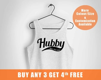 Mr and Mrs, wifey, husband gift, Just Married Personalized vests, hubby, Bride Gift, Groom Tee, Wedding Gift,Married since tee,