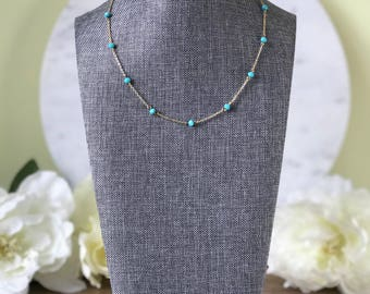 Delicate crystal layering necklace - choose your color!