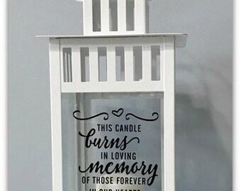 Wedding, Memory Candle, Memorial Lantern, Remembrance, Keepsake, This Candle Burns In Memory