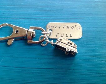 Shitters Full Keychain, RV, Camper, keyring, Trailer, Christmas Vacation, Cousin Eddie, National Lampoon