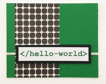 Nerdy Computer Science Vol. 1 Friendship Card Green