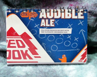 Spiral Notepad from Recycled Redhook Audible Ale 6-Pack Beer Carton