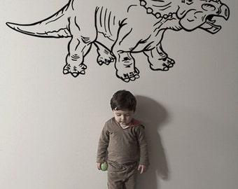 Vinyl Wall Decal Sticker Dino Dinosaur Triceratops KRiley115s
