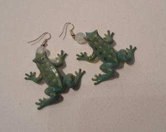 Frog Pendant Earrings