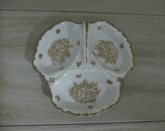Vintage French Candy Nut Dish Relish  Condiment Dip Nic Nac Serving Dish Hand Painted