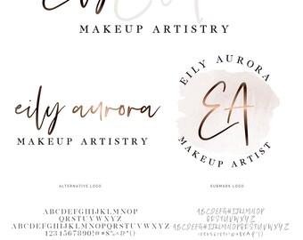 Modern Logo, Calligraphy Logo, Watercolor Logo, Logo, Bronze Logo, Logo Design, Premade logo, Photography Logo, Branding kit, Watermark
