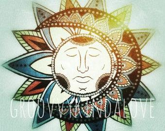 Sun Moon Design Instant Download for Electronic Cutters silhouette cricut vinyl digital decal hippie boho chic t shirt heat transfer