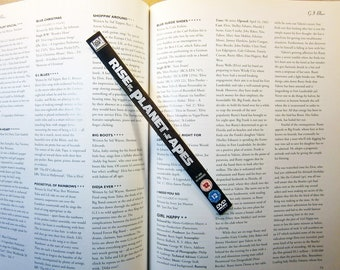 Recycled Sci-Fi DVD bookmarks - Serenity - Rise of the Planet of the Apes - Skyline - Only ONE of each bookmark available