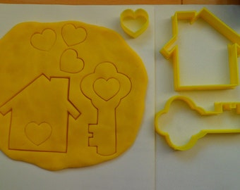 House and key, housewarming cookie cutters