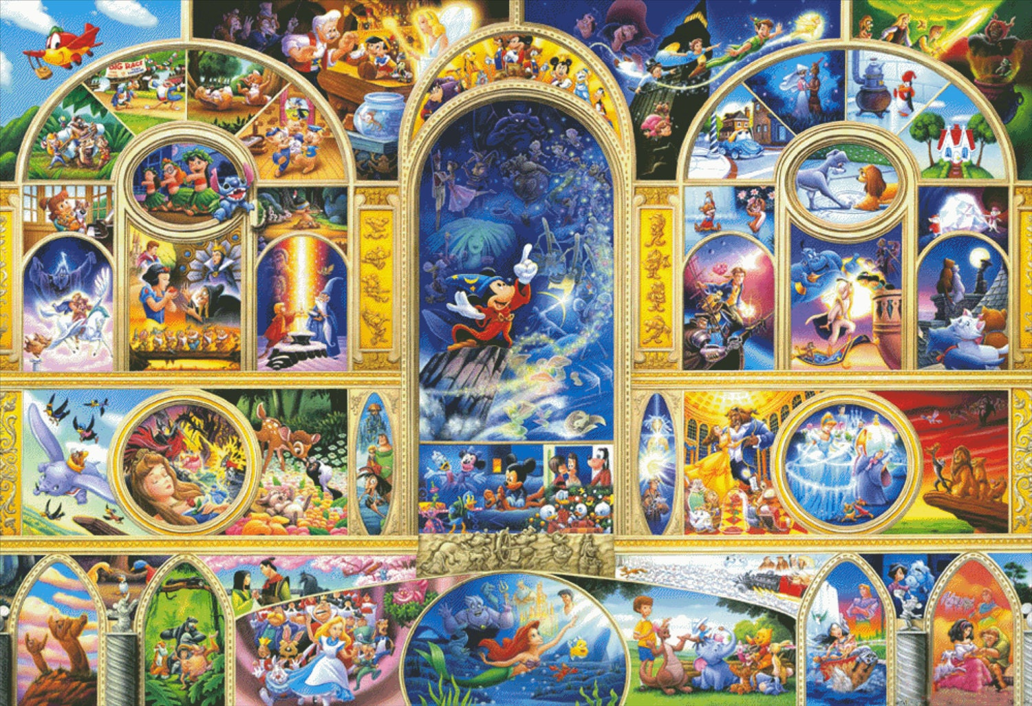 Disney Counted Cross Stitch Pattern Extra Large Cross Stitch