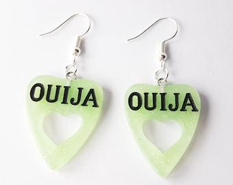 Green Ouija Earrings