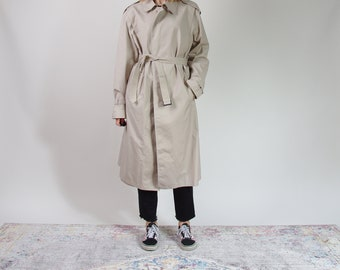 80s Gulins beige street style trench coat