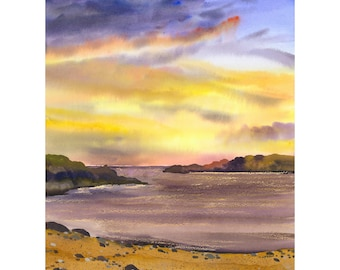 Purple Sunset, Limited Edition Print