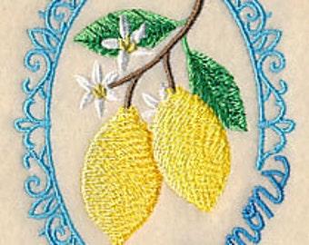 Lemons Towel - Fruit Towel - Embroidered Lemon Towel - Flour Sack Towel - Hand Towel - Bath Towel - Apron - Fingertip Towel