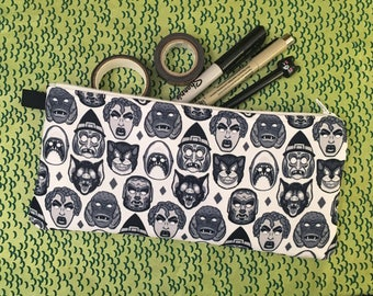 Monster Mask White Zippered Case