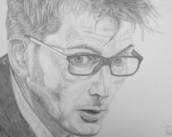 Tenth Doctor Pencil [PRINT]