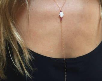 Nava: 14k Gold Fill Hamsa Necklace