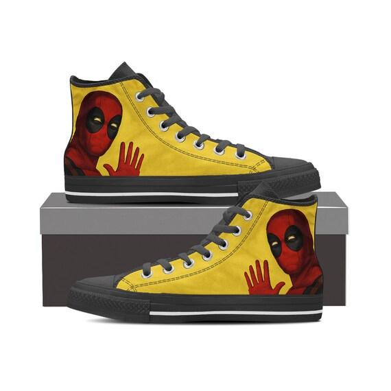 02516d86587c3f ... Wade Captain Custom Deadpool Deadpool Shoes Wilson Converse Shoes  Custom Converse Gift Deadpool Top Shoes America