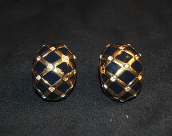 Vintage St. Johns Clip Back Earrings
