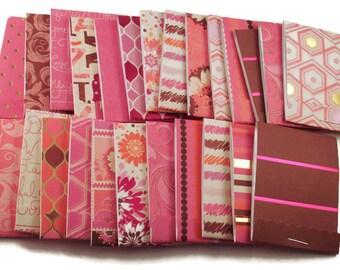 20  Matchbook Notepads  Matchbook Favors in  Haute Pink