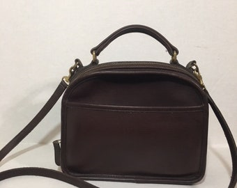 REDUCED PRICE! Vintage Rare Brown Leather Coach #9991 Handbag Crossbody Lunchbox