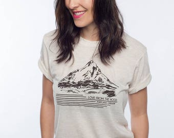 Cream Mount Hood American Apparel T Shirt 2qgy0oV4
