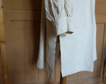 Artists smock, peasant tunic, shirt, hand stitched, 19th century, country shirt, unworn, perfect condition, shepherds smock, deadstock
