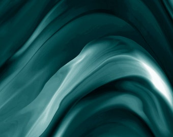 TEAL SWIRLS contemporary abstract print, home decor, wall decor, teal wall art, digital painting