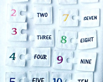 Childs numéro jeu - apprendre le jeu toy-numéro - sac occupé - voyage toy - enfants comptant jeu - sac tranquille - occupé sac jeu #3893