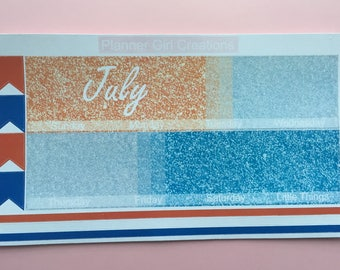 July Monthly Kit For Use in Erin Condren