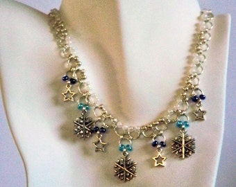 Winter Chainmaille Necklace