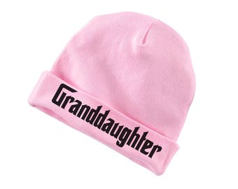 Granddaughter Funny Cotton Beanie For Infants