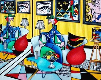 Pop Art Print, Interior, Furniture, Pop Art, Pop Art Poster, Wall Art Print, Lichtenstein Art, Modern Art Print,