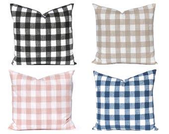 Buffalo Check Pillow Cover - Euro Pillow - Buffalo Plaid - Farmhouse Decor - Decorative Pillow Cover - Sofa Pillow Cover - Throw Pillow