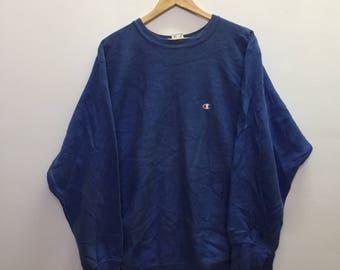 Champion Sweatshirt Small Logo Embroidery Nice Colour