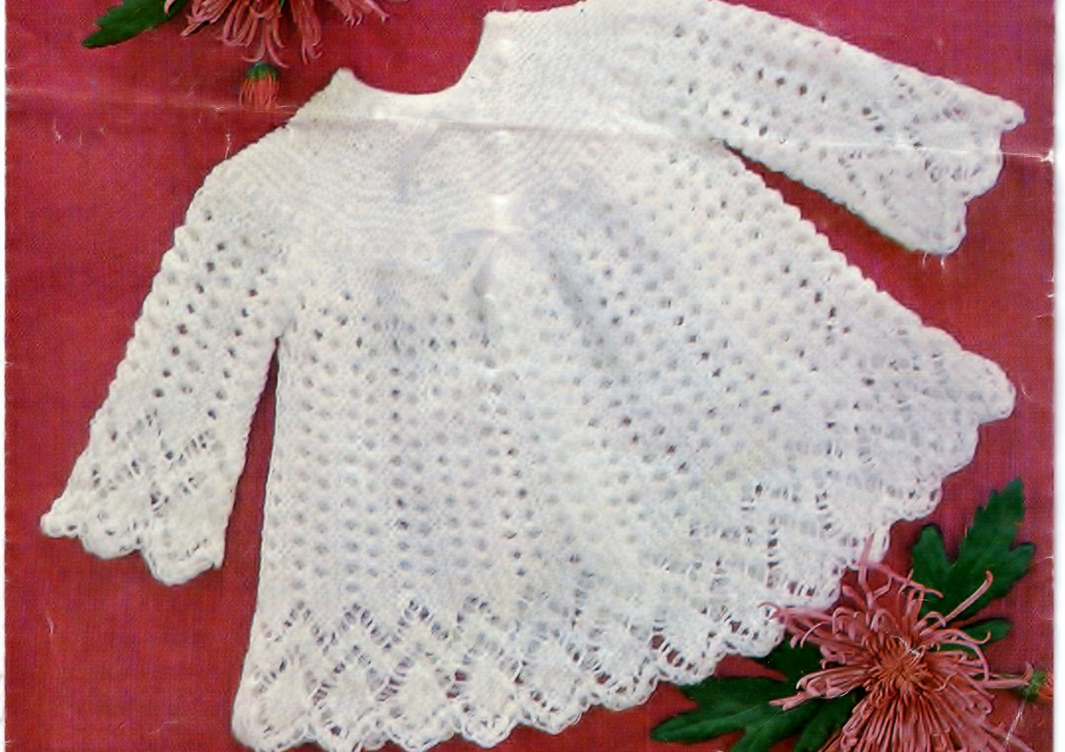 PDF knitting pattern baby sweater top baby girl baby dress