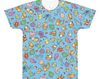 Pokemon Inspired All Over Print T-Shirt