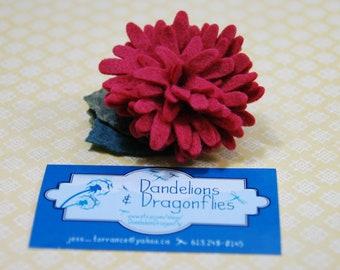 Birth Flower Hair Clip - November Chrysanthemum