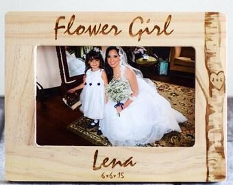 Flower Girl Gift, be my flower Girl, Will you be my Ring Bearer? Flower Girl Personalized Frame, Ring Bearer Frame