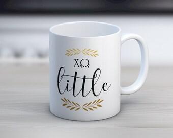 ChiO Chi Omega Little Mug Sorority Coffee Mug