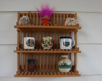 Wooden KNICK KNACK SHELF Capable Of Folding Up Great For Collections Spice  Plants And More Kitchen