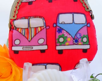 Coin Purse Campervan Red