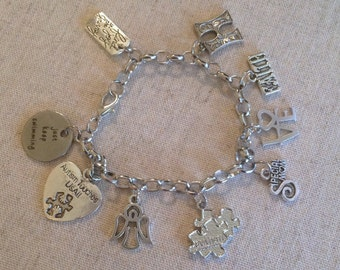 Autism Awareness Charm Bracelet; Gift for Special Needs Mom; Gift for her