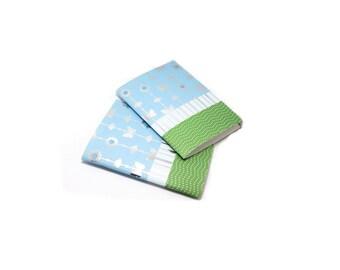 Notebooks, Pocket Notebook, Soft Cover Notebook, Field Journal, Jotter, Pattern Notebook, Mini Journal, Butterfly Notebook, 5 x 3 3/4