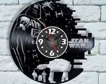 Kylo Ren Star Wars Force Awakens poster Vinyl Clock, force awakens gift, force awakens party Star Wars Force Awakens decor decorations ideas