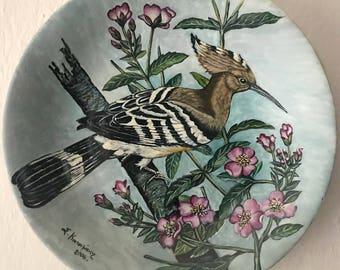 Modern porcelain decorated dish