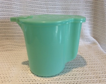 Tupperware Jug or Pitcher Jade Green Circa 1970